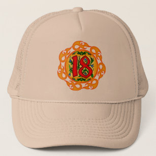 Flaming 18th Birthday Gifts Trucker Hat