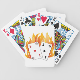 Flaming Aces Bicycle Playing Cards
