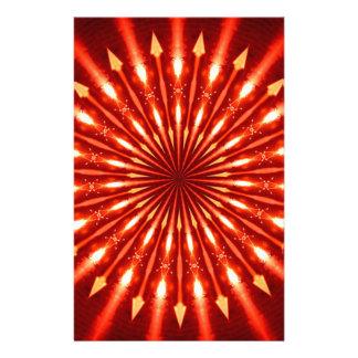 flaming arrows kaleidoscope custom stationery
