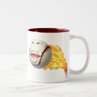 Flaming Baseball Mug