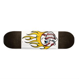 Flaming Baseball Skateboards