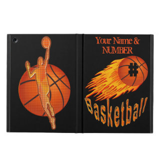 Flaming Basketball iPad Air Case, ADD NAME, NUMBER iPad Air Case