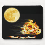Flaming Biker Motorcycle Fantasy Art Mousepad