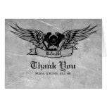 Flaming Biker Thank You Stationery Note Card