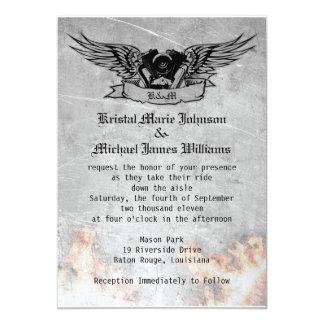 Flaming Biker Wedding Card