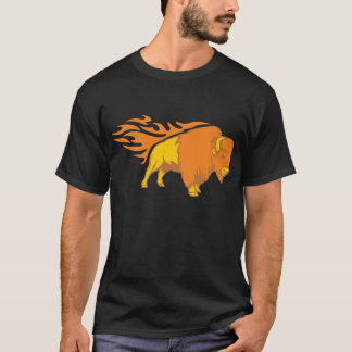 Flaming Bison #2 T-Shirt