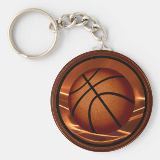 Flaming Cheap Basketball Keychains in BULK or One