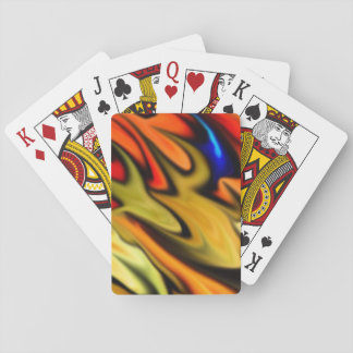 Flaming Desire Rainbow of Color Playing Cards