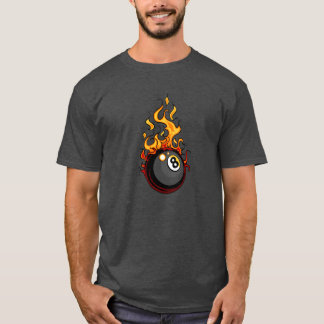 Flaming Eight Ball Billiards T-Shirt