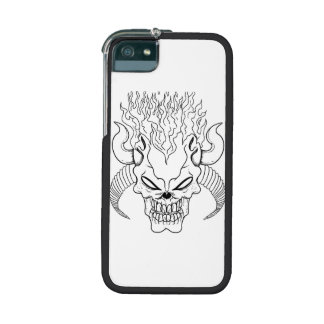 Flaming Evil Skull Cover For iPhone 5/5S