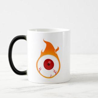 flaming eye magic mug