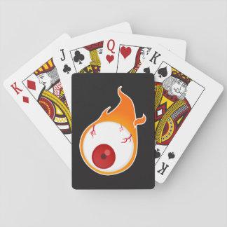 flaming eye playing cards