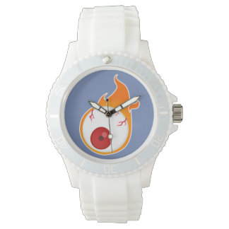 flaming eye wrist watches