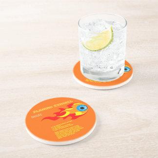 Flaming Eyeball Drink Recipe Beverage Coaster