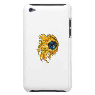 Flaming Eyeball On Fire Drawing iPod Case-Mate Case