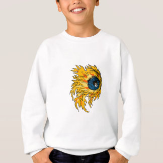 Flaming Eyeball On Fire Drawing Sweatshirt