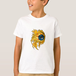 Flaming Eyeball On Fire Drawing T-Shirt