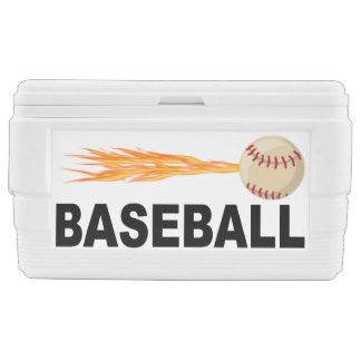 Flaming Fast Baseball Cooler