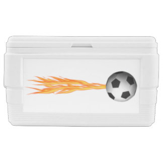 Flaming Fast Soccer Ball Cooler