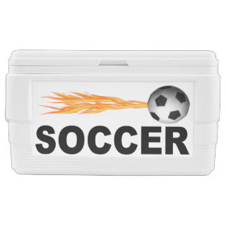 Flaming Fast Soccer Ice Chest