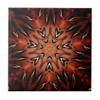 Flaming Feather Kaleidoscope Tile