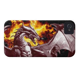 Flaming Fire Dragon Fantasy Blackberry Case
