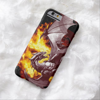 Flaming Fire Dragon Fantasy Design Barely There iPhone 6 Case