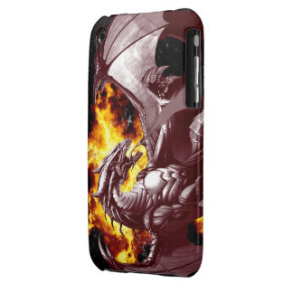 Flaming Fire Dragon Fantasy iPhone Case