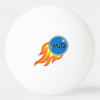 Flaming Fireball Personalized Ping Pong Ball