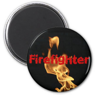 Flaming Firefighter Fire Flames Magnet