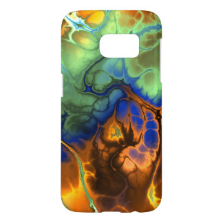 Flaming Fractal Galaxy S7 Case