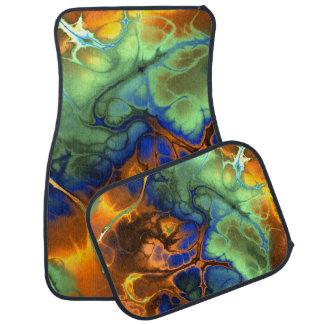 Flaming Fractals Abstract Car Mat