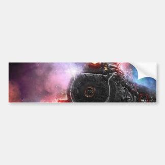 Flaming Freight Train Bumper Sticker