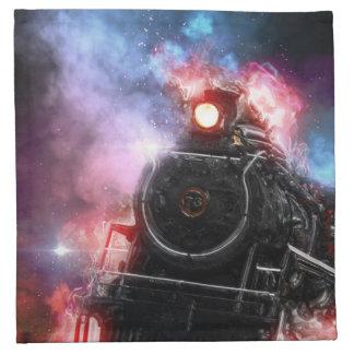 Flaming Freight Train Napkin