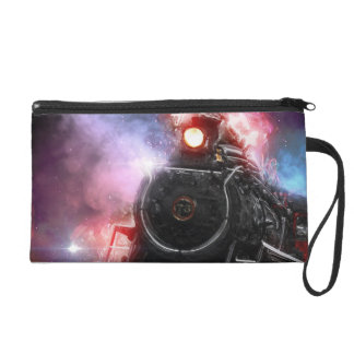 Flaming Freight Train Wristlet Clutches