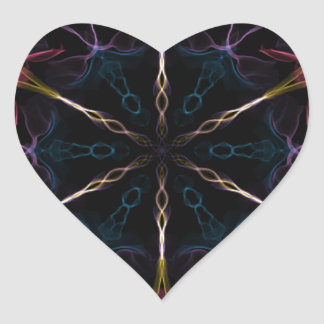 Flaming Geek Heart Sticker