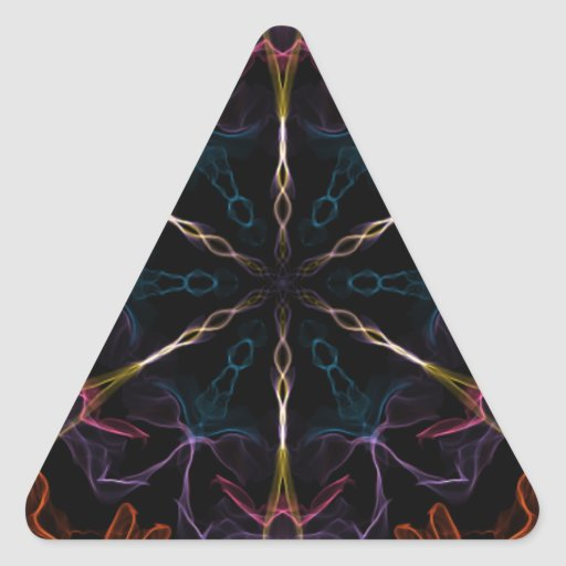 Flaming Geek Triangle Sticker