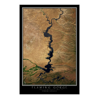 Flaming Gorge National Recreation Area Satellite Poster