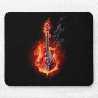 Flaming Guitar Mouse Pad