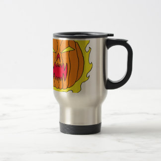 Flaming Halloween Pumpkin Coffee Mug