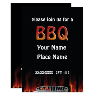 Flaming Hot BBQ Invitation