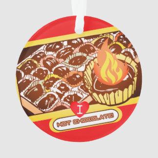 Flaming hot chocolate bon bons Christmas ornament