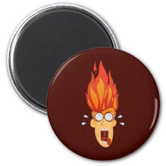 Flaming Hot Head Magnet