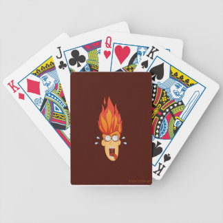 Flaming Hot Head Poker Deck