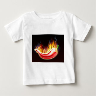 Flaming Hot Red Chilli Pepper Baby T-Shirt