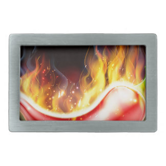 Flaming Hot Red Chilli Pepper Rectangular Belt Buckles