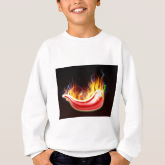 Flaming Hot Red Chilli Pepper Sweatshirt
