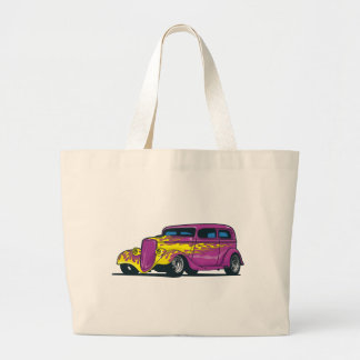 Flaming Hot Rod Tote Bags