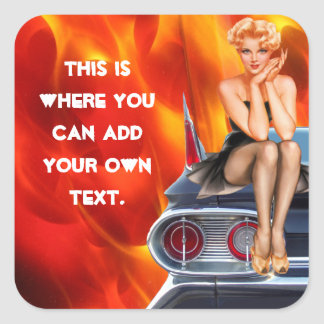 Flaming Hot Square Sticker