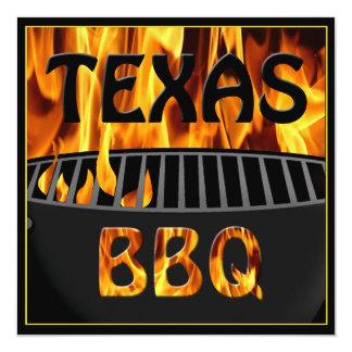 Flaming Hot Texas BBQ Grill Invitation
